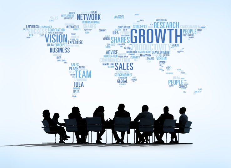 World Business Meeting with Growth Concept